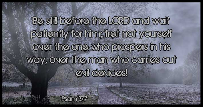 Fret Not Over Evil Doers - Psalm 37:7