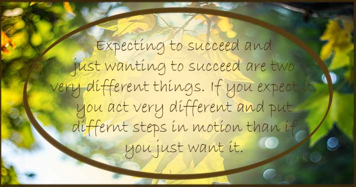 Expecting Vs Wanting