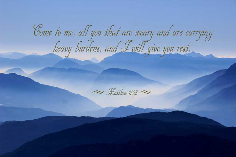 I will give you rest - Matthew 11:28