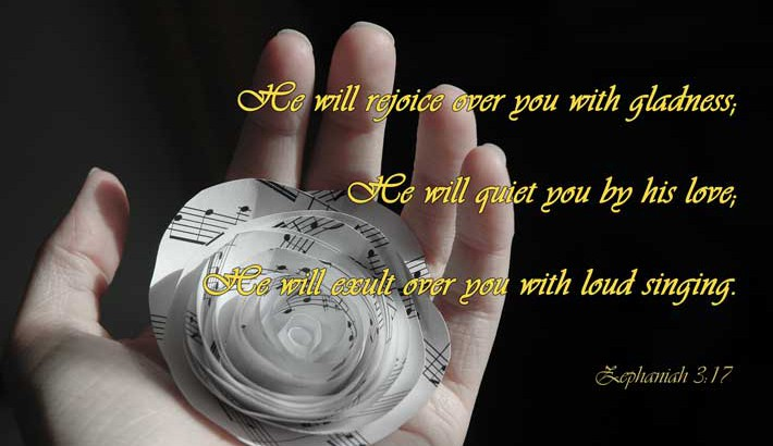 God Rejoices Over You - Zephaniah 3:17