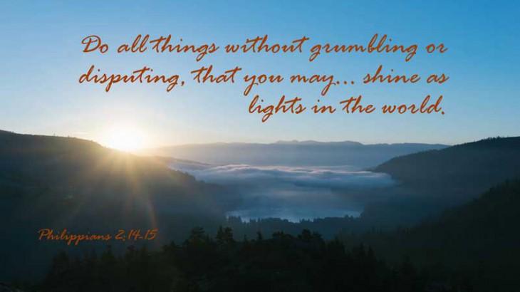 Without Complaining - Philippians 2:14-15