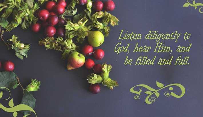 Listen and Be Filled