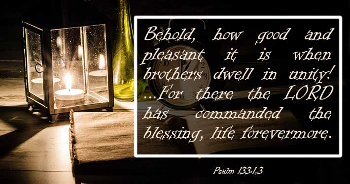 Unified in God - Psalm 133:1,3